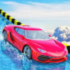 water slide car race