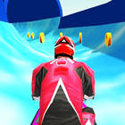 water slide jet ski race