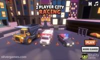 2 Player City Racing: Race