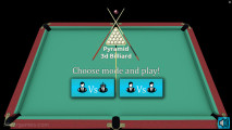 3D Billiard Pyramid: Menu Billiard
