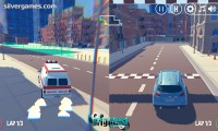 3d City 2 Player Racing: Driving