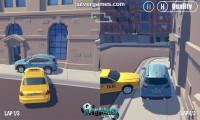 3D City: 2 Player Racing: Split Screen