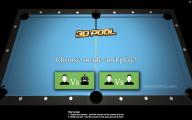 3D Pool: Menu