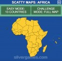 Africa Map Quiz: Menu
