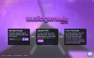 Audiogame .io: Menu