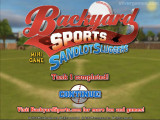 Backyard Baseball: Menu
