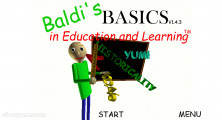 Baldi's Basics In Education And Learning: Menu