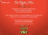 Bartender The Right Mix: Menu