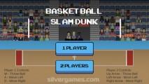 Basketball Slam Dunk: Menu