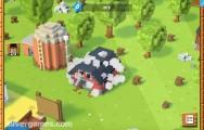 Blocky Farm: Gameplay Building Farm