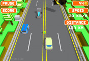 Blocky Roads: Gameplay Blocky Car Race