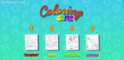 Coloring Game For Kids: Menu