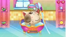 Cute Kitty Care: Shower Cat Bath Gameplay