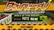 Drunk-Fu: Wasted Masters: Menu