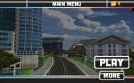 Flying Police Car Simulator: A Menu