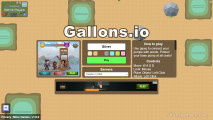 Gallons.io: Menu