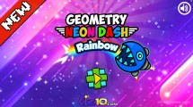 Geometry Neon Dash Rainbow: Menu