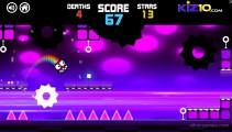 Geometry Neon Dash Rainbow: Jumping Reaction