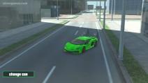 Grand City Driving: Green Sport Car Racing