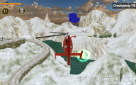 Helicopter Rescue Operation 2020: Checkpoints Helicopter Snow Landscape