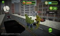 Incredible Monster: Gameplay Fighting Green Hulks
