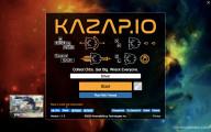 Kazap .io: Menu