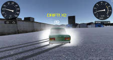 Lada Russian Car Drift: Gameplay Green Car Drifting