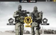 Lethal Sniper 3D: Army Soldier: Menu