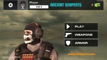 Masked Forces Ancient Serpents: Menu