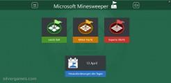 Microsoft Minesweeper: Menu