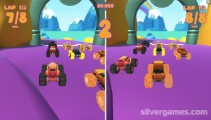 Monster Race 3D: Gameplay Multiplayer Racing Game