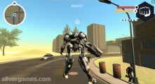 Muscle Car Robot: Gameplay Destruction City