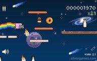 Nyan Cat: Lost In Space: Gameplay Hungry Cat