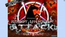 Robot Unicorn Attack: Heavy Metal: Menu