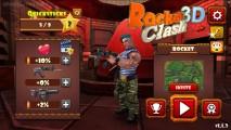 Rocket Clash 3D: Menu