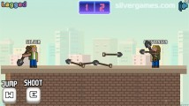 Rooftop Shooter: Gameplay Two Player Battle