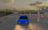 Russian Driver 3D: Gameplay Parking Blue Car