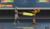 Samurai Fighters: Gameplay Two Opponents Fighting