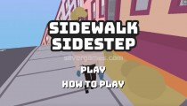 Sidewalk Sidestep: Menu