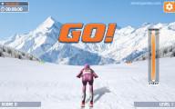 Slalom Ski Simulator: Start Ski Race