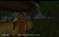 Slenderman Vs Freddy The Fazbear: Gameplay Teddy Night