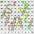 Snakes And Ladders: Printable