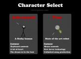 Stick Figure Badminton: Character Select Badminton