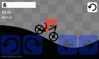 Stickman Bike Racer: Hilly Cycling Red Stickman