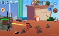 Stickman World War: Attacking Defense Gameplay