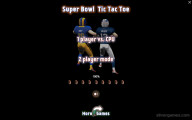 Super Bowl Tic Tac Toe: Menu