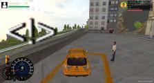 Taxi Simulator: Gameplay Picking Up Customer