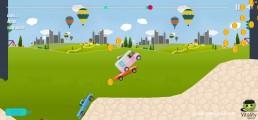 Uphill Climb Racing: Gameplay Racing Distance