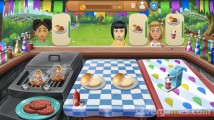 Virtual Families: Cook Off: Gameplay Burger Preparation
