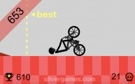 Wheelie Challenge: Stickman Wheelie Fall
